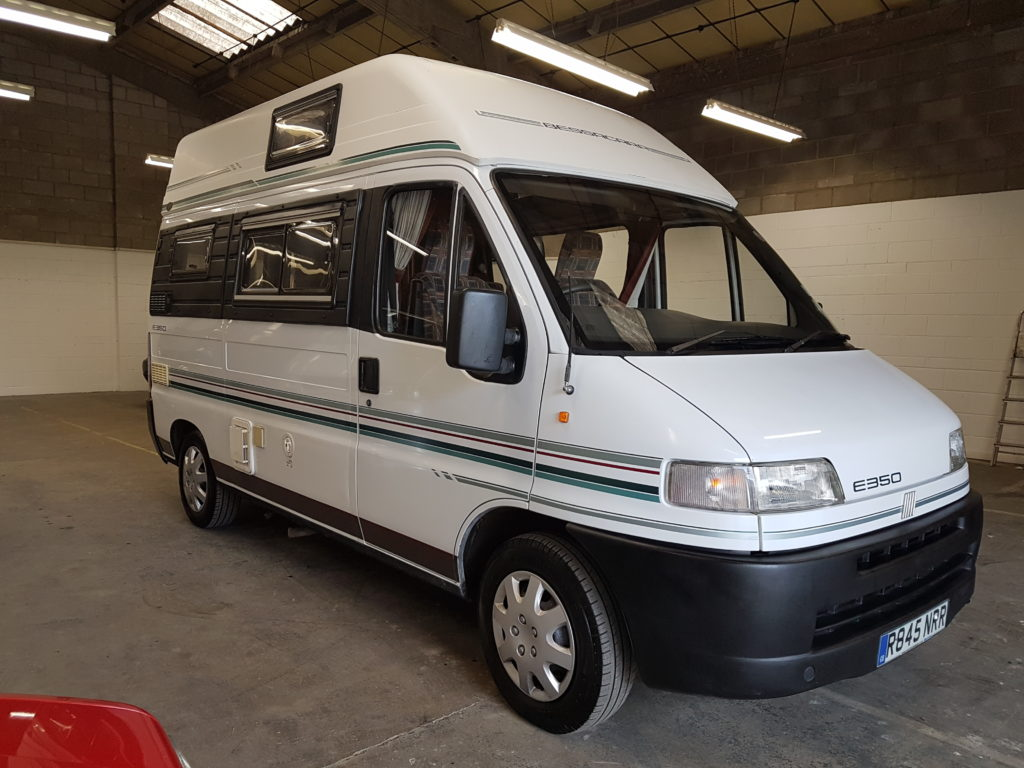 fiat ducato e350 bessacarr diesel campervan aire valley campers. Black Bedroom Furniture Sets. Home Design Ideas