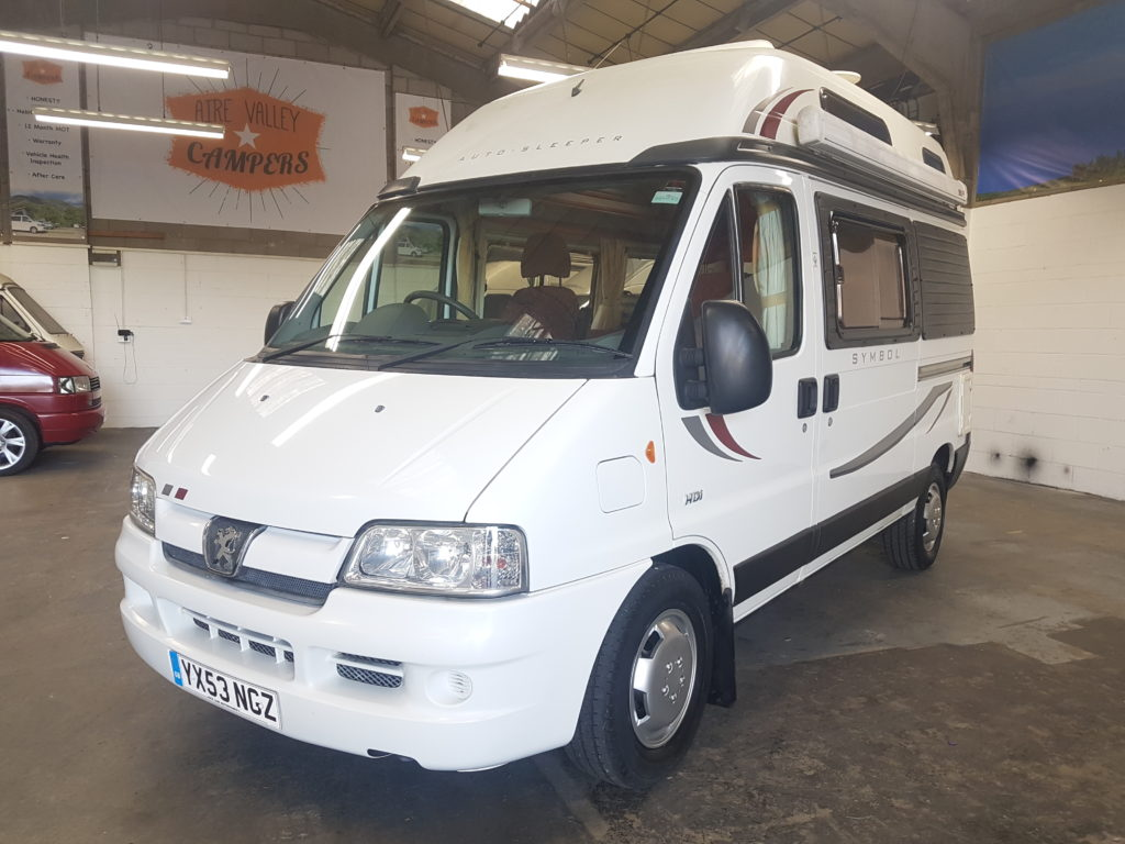 Peugeot Boxer Autosleeper Symbol 2 2 Hdi Turbo Diesel 2 Berth Motorhome Aire Valley Campers