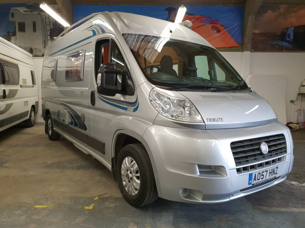 Trigano Tribute 2 Berth Motorhome Fiat Ducato 2300 Diesel In Silver Metallic Aire Valley Campers